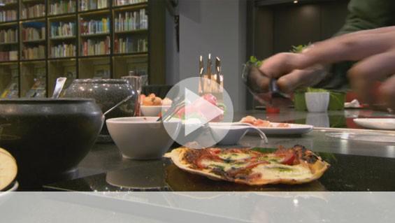 Heißer Stein – Pizza
